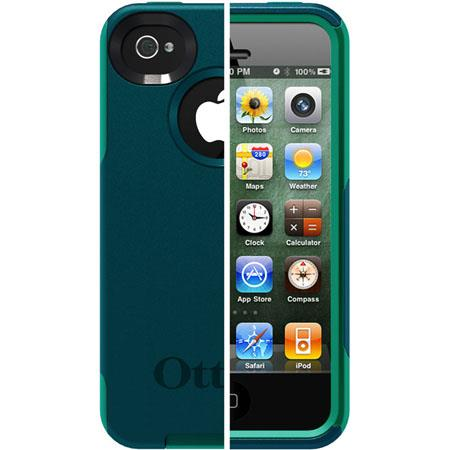 Otterbox Commuter Case for iPhone 4S, Deep Teal PC / Light Teal Slip Cover