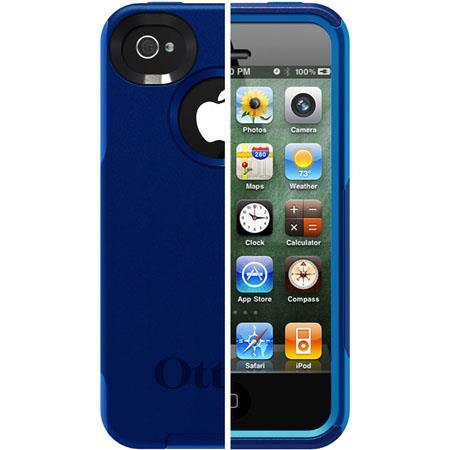 Otterbox Commuter Case for iPhone 4S, Night Blue PC / Ocean Slip Cover