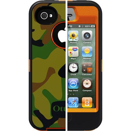 OtterBox Defender Case for Apple iPhone 4/4S, Blaze Jungle Camo