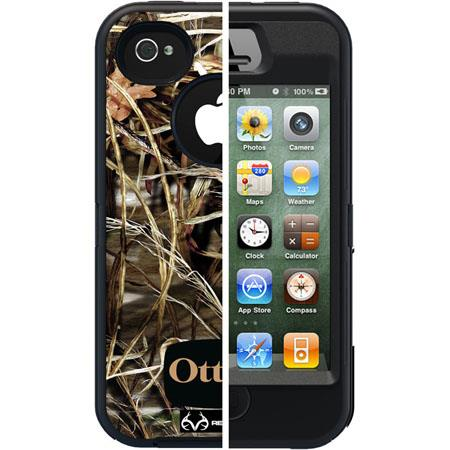 Otterbox Defender Case for i-Phone 4S - Black Max 4/Realtree Camo Pattern