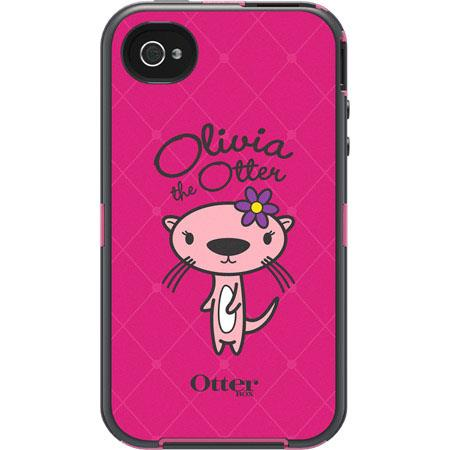 OtterBox Friends Collection Defender Case for iPhone 4S/4, Olivia Pink