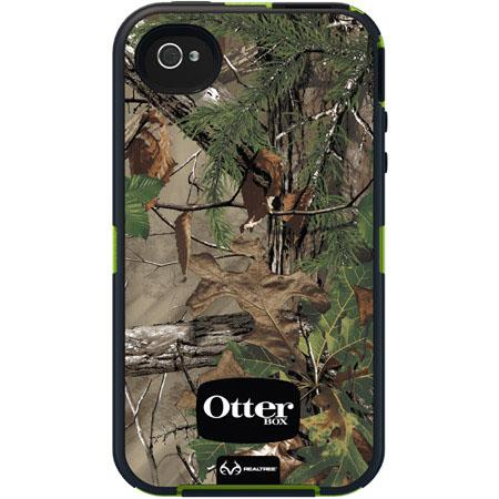 OtterBox Defender Case for iPhone 4/4S with RealTree Camo, Xtra Green