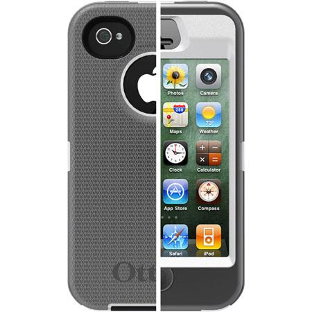 Otterbox Defender Case for i-Phone 4S - White/Gunmetal Grey