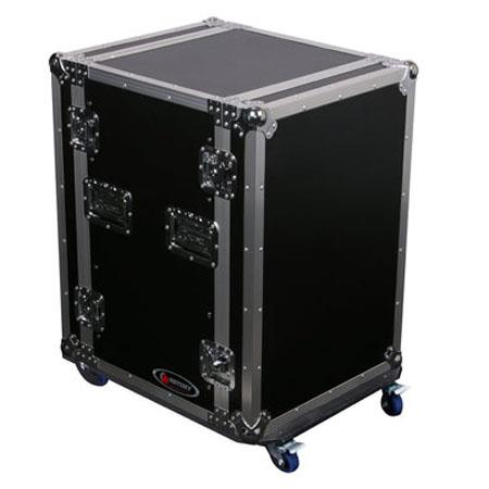 Odyssey Flight Zone FZSRPAR12W Space Saver Amp Rack Case with Wheels for 12 Space Rackmount Gear