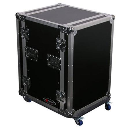 Odyssey Flight Zone FZSRPAR20W Space Saver Amp Rack Case with Wheels - for 20 Space Rackmount Gear