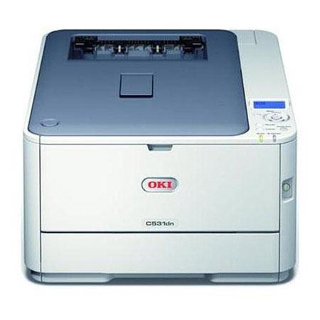 OKI Data OKI Data C531dn Digital Color Printer, 27 ppm Color/31 ppm Mono, 1200x600 dpi, 350 Sheet Input Tray, USB2.0/Ethernet