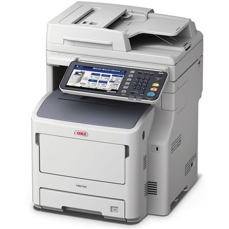 OKI Data OKI Data MB760+ All-in-One Monochrome LED Multifunction Laser Printer, 49 ppm, 1200x1200 dpi, 630 Sheet Standard...