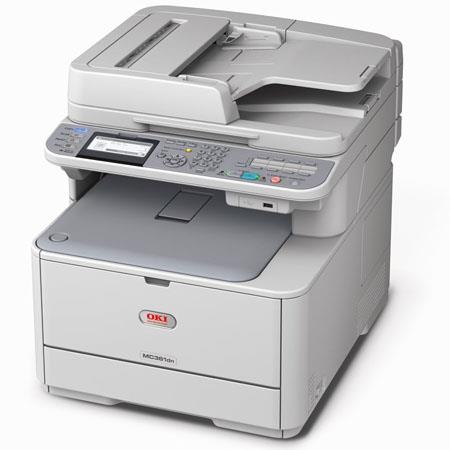 OKI Data MC361 Multifunction Color Printer, Copier, Scanner & Fax, 120V, 23 / 25 ppm, Up to 1200x600dpi