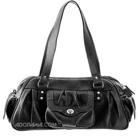 "ONA ""The Nevis"" Full Grain Leather Shoulder Bag for Women - Black image"