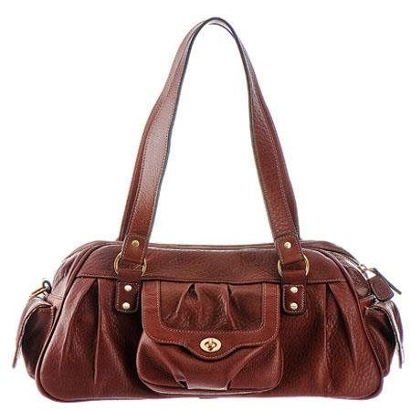 "ONA ""The Nevis"" Full Grain Leather Shoulder Bag for Women - Cognac image"