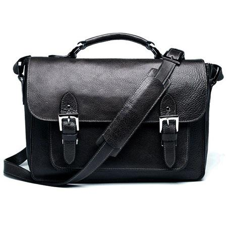 ONA Brooklyn Premium Leather Camera Satchel, Black