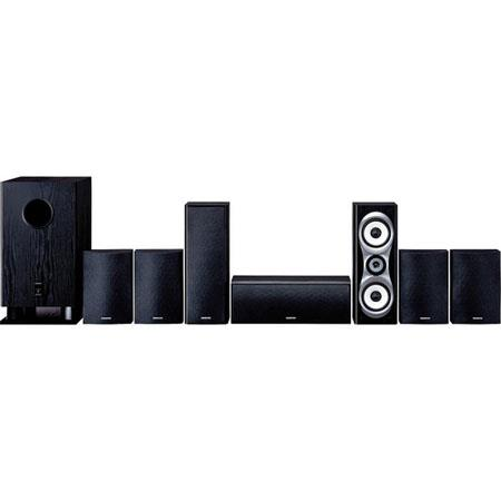 "Onkyo SKS-HT540 7.1 Home Theater Surround Sound System, 7 Satellite Speakers, 10"" Subwoofer"