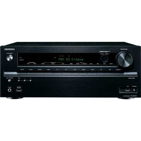 Onkyo TX-NR737 7.2-Channel Dolby Atmos Ready Network AV Receiver, 125W Per Channel at 6 Ohms, 5 Hz-100 kHz Frequency Response, Built-In Wi-Fi & Bluetooth, HDMI 2.0