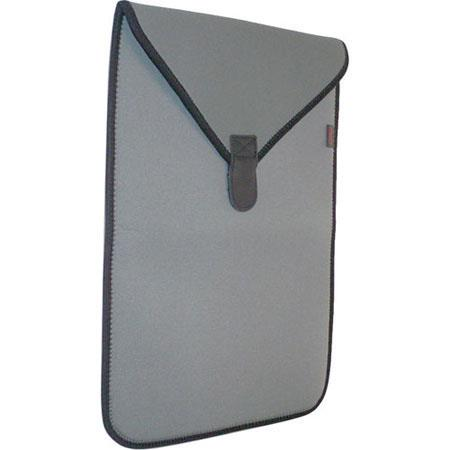 """Op/Tech Soft Pouch Computer Sleeve, Protects 17"""" Notebooks, Steel image"""