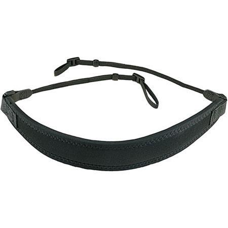 "Op/Tech Super CLassic Bino Strap 3/8"" with Webbing Connectors - Black image"