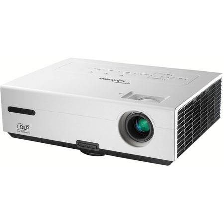 Optoma DS-219 SVGA DLP Multimedia Projector with 2500 Lumens, 2500:1 Contrast; HD TV Ready; VGA in; Stereo Audio in/out image