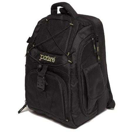"Portare' PBP2 Multi-use Camera Backpack with Padded Laptop Compartment for up to 17"" Laptops - Black"
