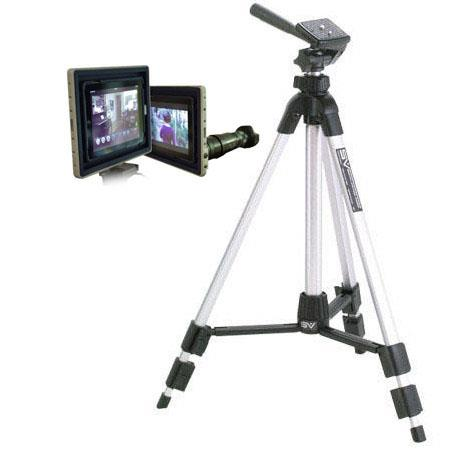 Padcaster Case & Cage for iPad with Lencaster - Bundle With Smith Victor Pinnacle Series P500 Digital Tripod