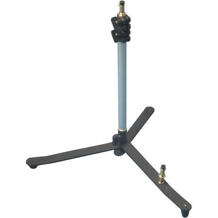 "Interfit Photographic Backlight Lightstand with 3 Sections, 2 Risers, Black Base with Chrome Risers, 5/8"" Mounting Stud. image"