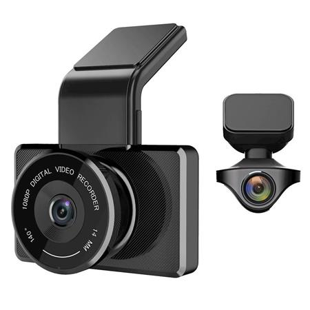 myGEKOgear Orbit 950 1080p Front and Rear Full HD Dash Cam with Built in G-Sensor, 16GB SD Card Included