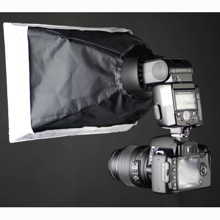 Interfit Photographic White Softbox for Shoe Mount Flashes, Flex Mount Not Included. image
