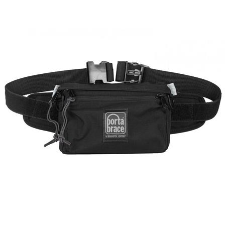 Porta Brace Hip Pack 1, Small Belly or Fanny Pack Gadget Bag, Black