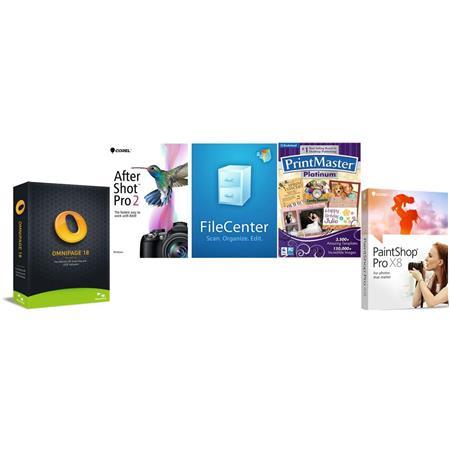 Corel Corel Digital Organization Creativity Software Kit - Includes PaintShop Pro X8, AfterShot Pro 2, Nuance OmniPage 18,...