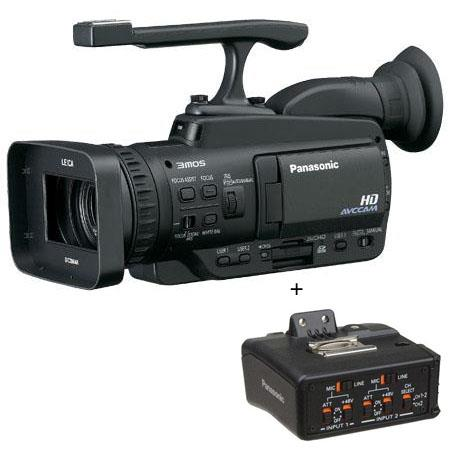 "Panasonic AG-HMC40 3MOS Handheld AVCCAM Camcorder, 12x Optical Zoom, 2.7"" LCD Monitor, SD Memory Card Slot, - with FREE Panasonic XLR Microphone Adapter an"