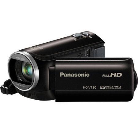 Panasonic HC-V130 1080p Full HD Camcorder, 2.12MP, 38x Optical/75x Intelligent Zoom, 2.7