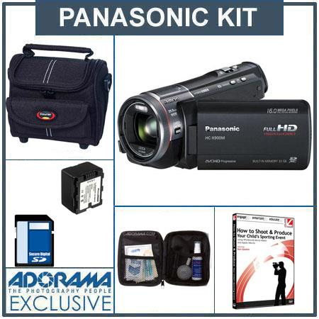 Panasonic HC-X900M HD Camcorder, 32GB Flash Memory, Black - Bundle - - with 16GB SD Memory Card, Camcorder Case, Digital Lens Cleaning Kit, Class On Demand Blac