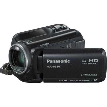 Panasonic HDC-HS80K Camcorder, 33.7mm Wide-Angle, 42x Intelligent Zoom, Intelligent Auto, 120GB HDD, SDXC/SDHC/SD Memory Card, 2.7in Wide LCD image