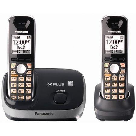Panasonic KX-TG6512B Expandable Digital Cordless Phone with 2 Handsets