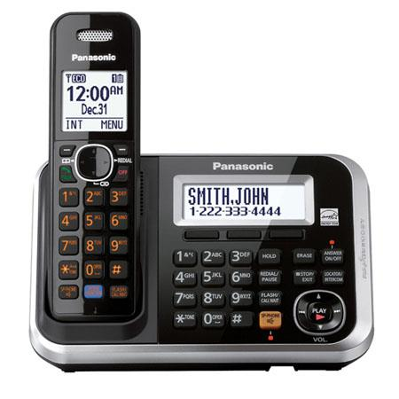 Panasonic KX-TG6841B Expandable Digital Cordless Answering System with Handset