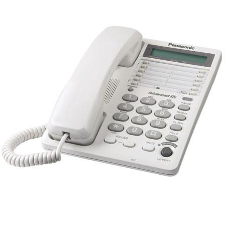 Panasonic KX-TS108W Integrated 16-Digit LCD Telephone System with Clock