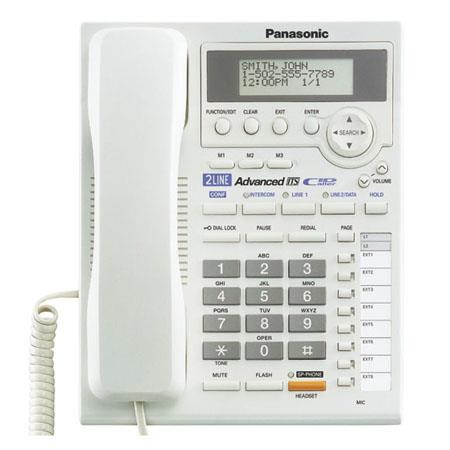 Panasonic KX-TS3282W 2-Line Integrated Phone System with Intercom, White