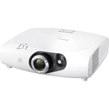 Panasonic PT-RZ370U Solid Shine DLP LED Projector, 3500 Lumens Brightness, 16:9 Aspect Ratio, 10000:1 Contrast Ratio, 1920x1080 Resolution