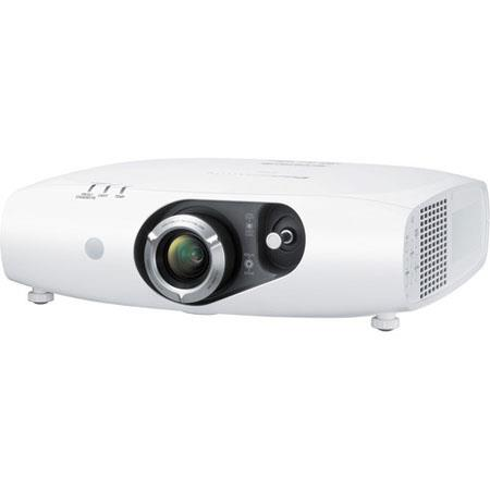 Panasonic PT-RZ470UW Solid Shine DLP LED Projector, 3500 Lumens Brightness, 16:9 Aspect Ratio, 20000: 1 Contrast Ratio, 1920x1080 Resolution, White