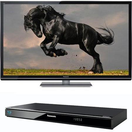 "Panasonic Smart VIERA 50"" Class GT50 Series Full HD 3D Plasma HDTV, - Bundle with Panasonic DMP-BDT220 Smart Network 3D Blu-Ray Disc Player"