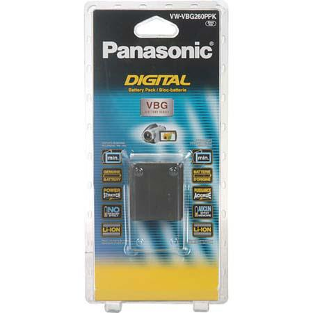 Panasonic VW-VBG260 7.2v Rechargeable Lithium-Ion 2640 mAh Battery Pack for select Panason ic Digital Camcorders