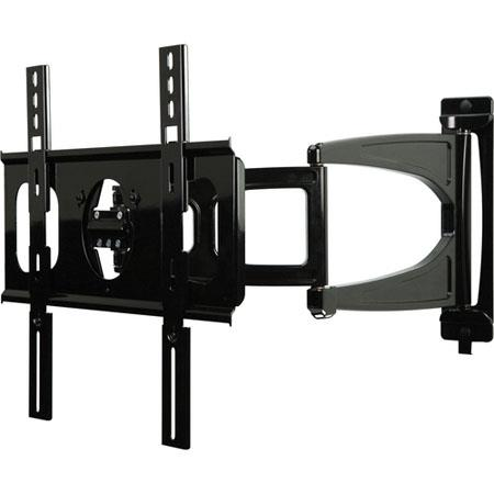 "Peerless Ultra Slim Articulating Wall Arm for 32"" to 46"" Ultra-thin Flat Panel Displays, Load Capacity 60lbs, Black"