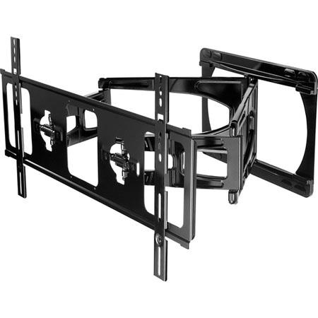 "Peerless Universal Ultra Slim Articulating Wall Arm for 42"" to 65"" Ultra-thin Displays, Load Capacity 100lbs, Black"