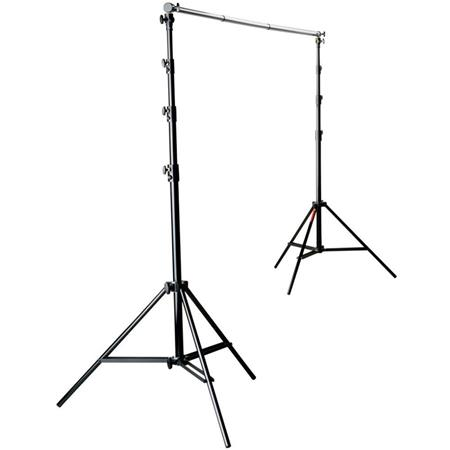 Photoflex Pro Duty BackDrop Support Kit, with One BackDrop Pole, Two 12.5' Black Lightstands & Carry Bag. image
