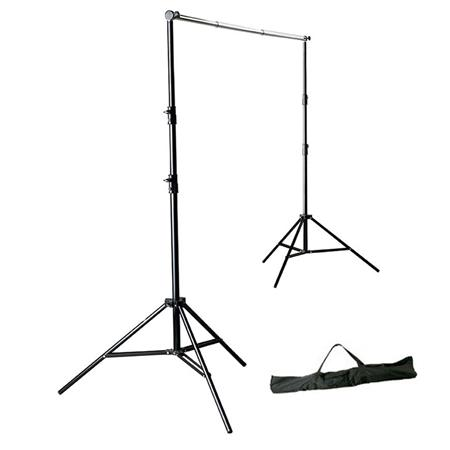 Photoflex First Studio BackDrop Support Kit, with BackDrop Crossbar Pole, 2 DP-LS933 Stands, & Carry Bag
