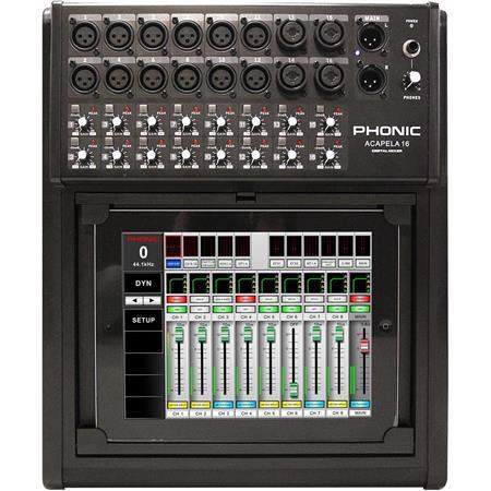 Phonic Acapela 16 Digital Mixer, iPad or Android Tablet Control, 40-bit Float Processing