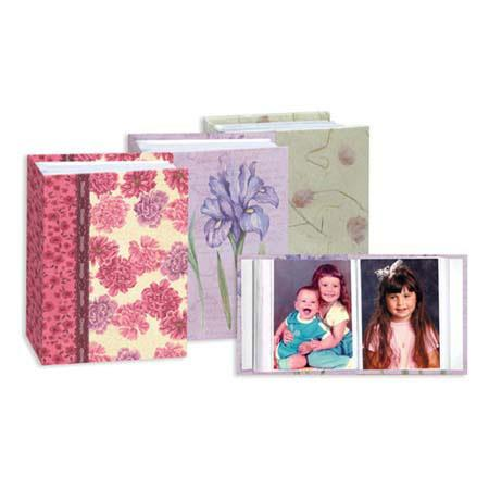 "Pioneer Mini Max Bound Photo Album, Random Solid Color Designer Covers with Accents, Holds 100 4"" x 6"" Photos, 1 Per Page image"