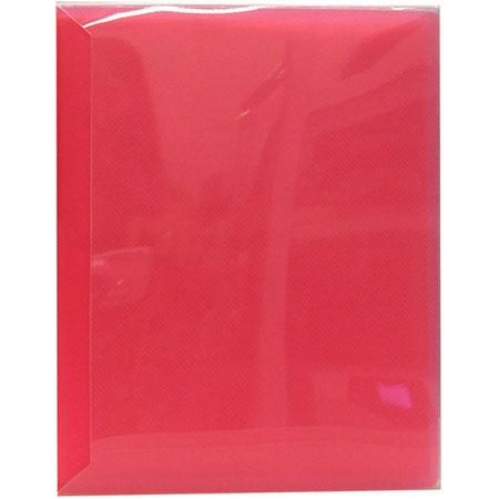 "Pioneer Space Saver Pocket Bound Photo Album, Solid Color Covers with Clear Pocket, Holds 72 4x6"" Photos, 2 Per Page. Color: Red."