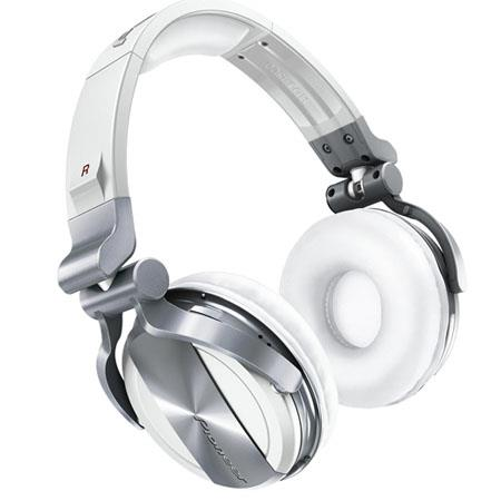 Pioneer HDJ-1500 Professional DJ Headphones, 50mm Drivers, Ambient Noise Reduction, White