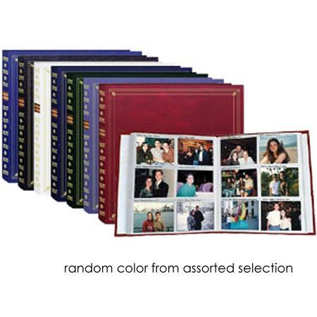"""Pioneer Full Size Post Bound, Clear Pocket Photo Album with Solid Color Covers & Gold Trim, Holds 300 4"""" x 6"""" Photos, 6 Per Page. image"""