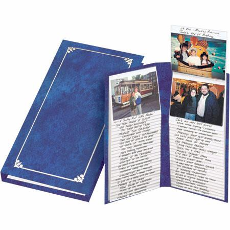 "Pioneer Flip-up Memo Pocket Bound Photo Album, Random Solid Color Series Covers with Gold Trim, Holds 100 4"" x 6"" Photos, Flip-up Pages image"