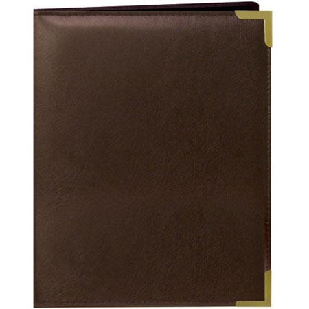 "Pioneer Wallet Oxford Bound Photo Album, Solid Color Sewn Leatherette Covers with Brass Accent Corners, Holds 24 2.5x3.5"" Wallet Photos, 1 Per Page, Color:"